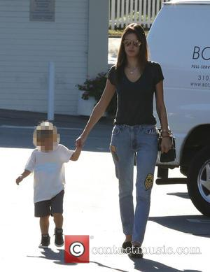Alessandra Ambrosio and Noah Phoenix Ambrosio Mazur - Alessandra Ambrosio shopping at Country Mart with her son, Noah on a...