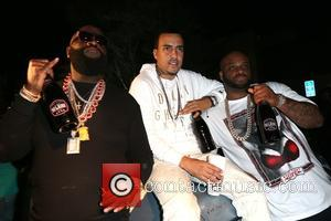 Rick Ross, French Montana and Yowda - Rick Ross shoots his new music video for the song 'If They Knew'...