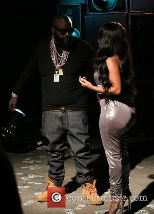 Rick Ross and K. Michelle - Rick Ross shoots his new music video for the song 'If They Knew' featuring...