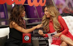 Nicole Scherzinger and Diana Madison - Nicole Scherzinger visits the Lowdown with Diana Madison at RevNew Media Studio - Hollywood,...