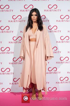 Kim Kardashian West - Hairfinity hair vitamins launch party held at Il Bottaccio - London, United Kingdom - Saturday 8th...