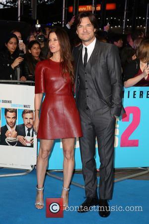 Jason Bateman and Amanda Anka - Shots of the stars from 'Horrible Bosses 2' as they arrived at the UK...