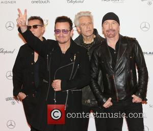 Adam Clayton, Bono, The Edge, Larry Mullen junior and U2 - Snaps from the red carpet as an array of...