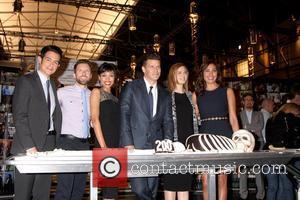 John Boyd, TJ Thyne, Tamara Taylor, David Boreanaz, Emily Deschanel and Michaela Conlin - The cast and crew of FOX's...
