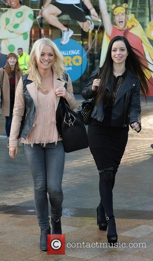 Hannah Spearritt and Tina Barrett - S Club 7 leave the BBC Breakfast Studio, Media City, Manchester after appearing on...