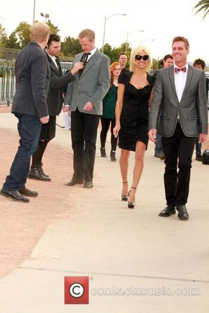 Pamela Anderson - Pamela Anderson and Chrissie Hynde give away Peta Leader at his gay wedding under the Las Vegas...
