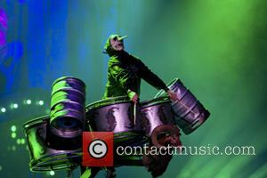 Skipknot and Chris Fehn - Shots of American heavy metal band Slipknot as they gave a live performance along with...