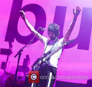 Kasabian and Sergio Pizzorno - Shots of the British rock band Kasabian as they gave a live performance at the...