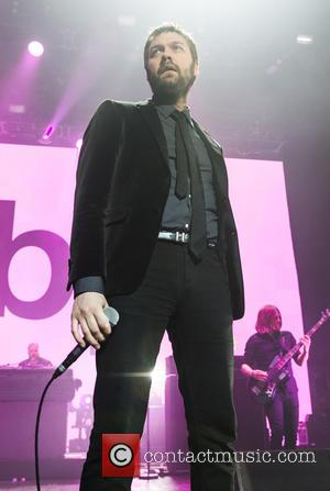 Kasabian and Tom Meighan - Shots of the British rock band Kasabian as they gave a live performance at the...