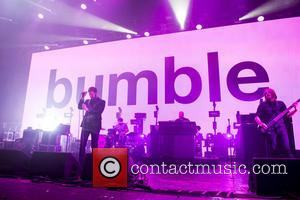 Kasabian, Tom Meighan and Sergio Pizzorno - Shots of the British rock band Kasabian as they gave a live performance...