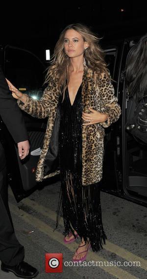 Behati Prinsloo - Victoria's Secret Models arriving back at their hotel at Victoria's Secret - London, United Kingdom - Tuesday...