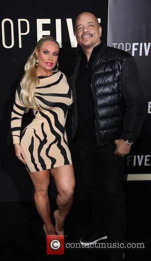 Coco Austin and Ice-T - Photographs of a variety of stars as they arrived for the the New York premiere...