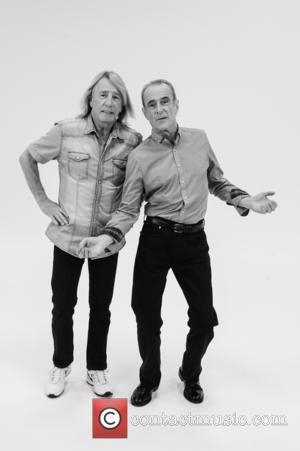 Rick Parfitt & Francis Rossi - EXCLUSIVE Status Quo strip naked to promote their new Status Quo album called Aquostic...
