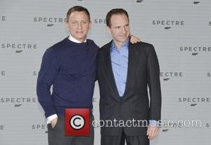 Daniel Craig and Ralph Fiennes - Shots of the stars of 'Spectre' the new James Bond film as they arrived...