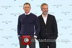 Daniel Craig and Sam Mendes - Shots of the stars of 'Spectre' the new James Bond film as they arrived...