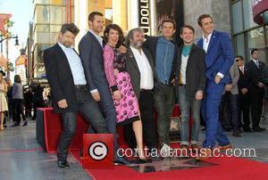 Andy Serkis, Richard Armitage, Evangeline Lilly, Peter Jackson, Orlando Bloom, Elijah Wood and Lee Pace