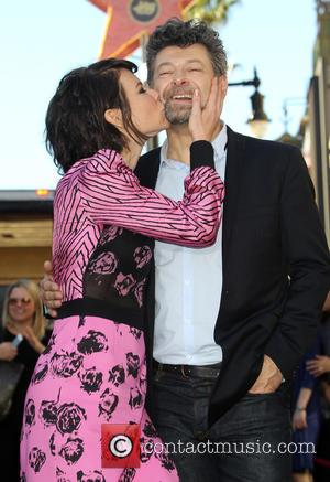 Evangeline Lilly and Andy Serkis