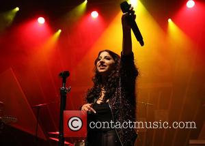 ariana and the rose - Foxes performing on stage at O2 Shepherds Bush Empire in London at Shepherds Bush, Shepherds...
