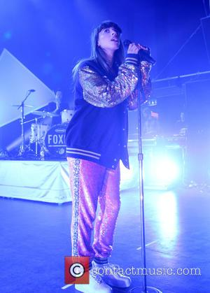 foxes and louisa rose allen - Foxes performing on stage at O2 Shepherds Bush Empire in London at Shepherds Bush,...