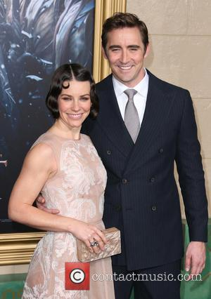 Evangeline Lilly and Lee Pace - Photographs from the red carpet at the Los Angeles premiere of the third movie...