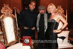 Chris Brown, Orlando Aguillen and Karen Bystedt - Chris Brown and Karen Bystedt Exclusive Serigraph Signing Benefit Symphonic Love Foundation...