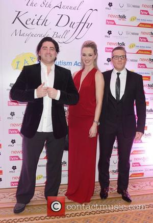 Brian Kennedy, Siobhan Byrne and Paul Byrne - Photographs of a variety of stars as they arrived at Keith Duffy's...