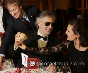 Andrea Bocelli, Veronica Berti and Marco Bocelli - Andrea Bocelli and wife Veronica celebrate Le Cirque's 40th anniversary at a...
