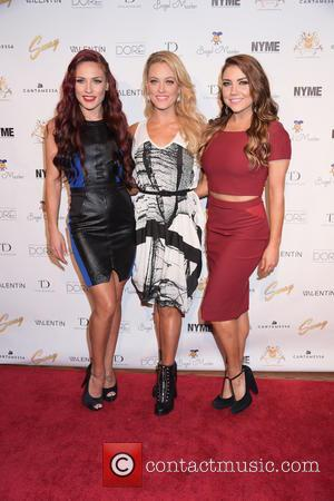 Sharna Burgess, Peta Murgatroyd and Jenna Johnson - dances with Olympic gold medalist Meryl Davis and other in SWAY at...