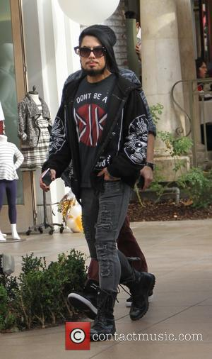 Dave Navarro - Dave Navarro spotted shopping at The Grove wearing a UNIF shirt that reads 'DONT BE A DIK'...
