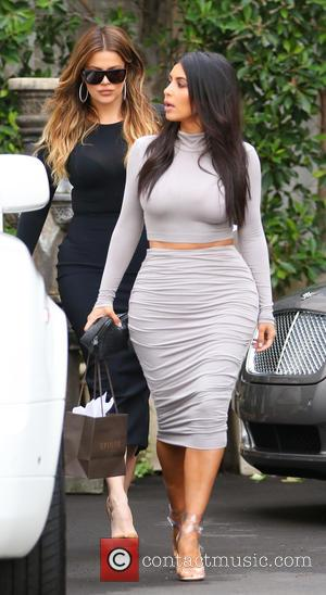 Kim Kardashian and Khloe Kardashian - Kim and Khloe Kardashian along with Kendall Jenner were snapped out and about in...