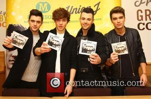 Union J - Union J sign copies of their new album 'You Got It All' at Morrison supermarket at Morrisons...