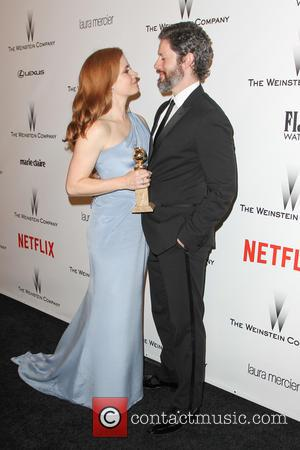 Amy Adams and Darren Le Gallo - 2015 Weinstein Company and Netflix Golden Globes After Party at The Beverly Hilton...