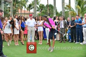 Donald J Trump and Contestant - Donald Trump opens Red Tiger Golf Course at Trump National Doral at Trump National...