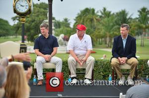 Matt Ginella, Donald J Trump and Jim Wagner - Donald Trump opens Red Tiger Golf Course at Trump National Doral...