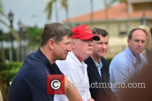 Matt Ginella, Donald J Trump, Jim Wagner and Gil Hanse - Donald Trump opens Red Tiger Golf Course at Trump...