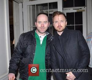Aaron Paul and Gary Paul - Breaking Bad actor Arron Paul seen at the Merrion Hotel with a Hurley and...