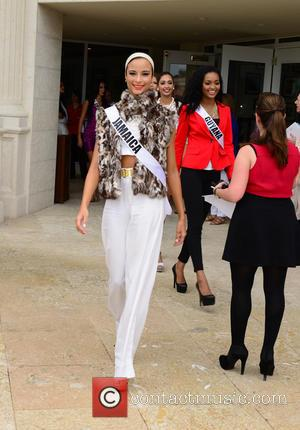 Kaci Fennell from Miss Jamaica - Donald Trump opens Red Tiger Golf Course at Trump National Doral at Trump National...