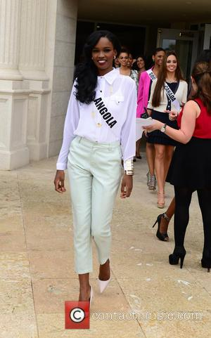 Zuleica Wilson from Miss Angola - Donald Trump opens Red Tiger Golf Course at Trump National Doral at Trump National...