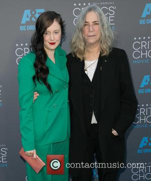 Andrea Riseborough and Patti Smith