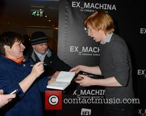 Domhnall Gleeson & fans - Director Alex Garland & actor Domhnall Gleeson at a preview screening of their movie 'Ex...