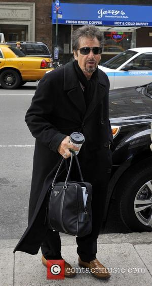 American actor Al Pacino was spotted as he got out of his car and headed in to the WNYC Radio...