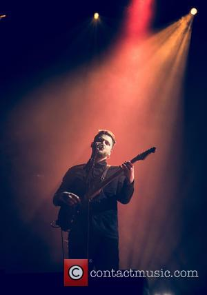 Shots of British indie rock band formed in Leeds, Alt-J as they performed live at the O2 Arena in London,...
