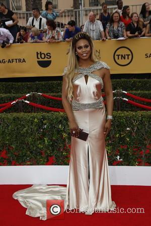 Laverne Cox - 21st Annual Screen Actors Guild Awards - Arrivals at Shrine Auditorium, Screen Actors Guild - Los Angeles,...
