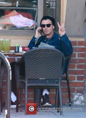 Gavin Rossdale - Gavin Rossdale takes his three sons to a Sushi restaurant for lunch in Studio City accompanied by...