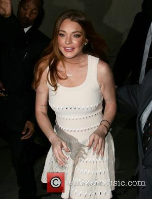 American actress Lindsay Lohan was spotted as she left Jimmy Kimmel Live! after her appearance on the show Lindsay was...