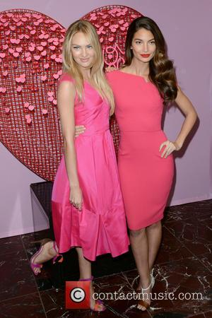 Candice Swanepoel and Lily Aldridge - Victoria's Secret Angels Share Gift Picks For Valentine's Day at Victoria's Secret - Queens,...