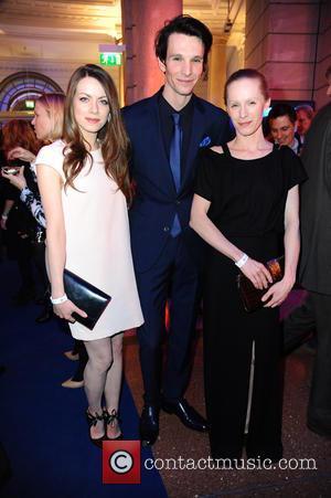 Alice Dwyer, Sabin Tambrea and Susanne Wuest - 65th Berlin International Film Festival (Berlinale) - Blue Hour party by ARD...
