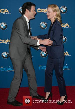 Bill Hader and January Jones - Celebrities attend 67th Annual DGA Awards - Arrivals at the Hyatt Regency Century Plaza....