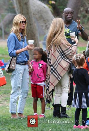 Heidi Klum, Lou Samuel and Seal - Heidi Klum and Seal watch their kids play soccer in Brentwood at soccer...