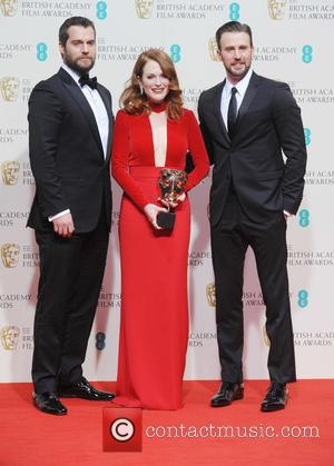 Julianne Moore, Chris Evans and Henry Cavill - Various stars of film and television were photographed after the EE British...